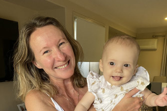 Kate Halfpenny with her great niece, Adeline.