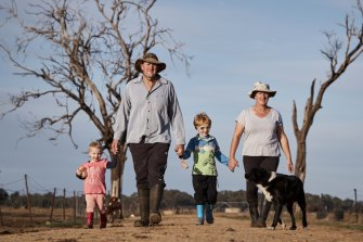 Riverina dairy farmers Barry and Rosey Warburton, who have two young children, feature in the new season of Struggle Street on SBS.