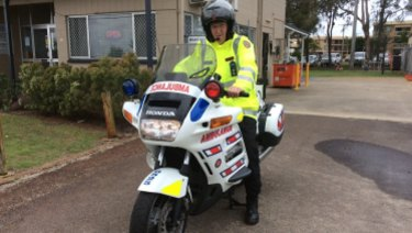 A now-retired paramedic motorcycle on show at a recent emergency services expo.
