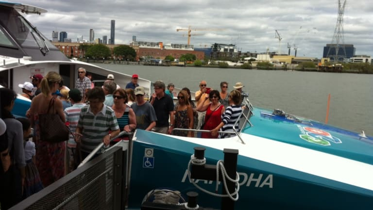 Bulimba commuters are being encouraged to cross the river to Teneriffe to escape congestion.