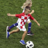 Croatian players' kids delight World Cup fans with post-win scratch match