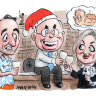 The hip joint: John Howard's knees-up has them talking