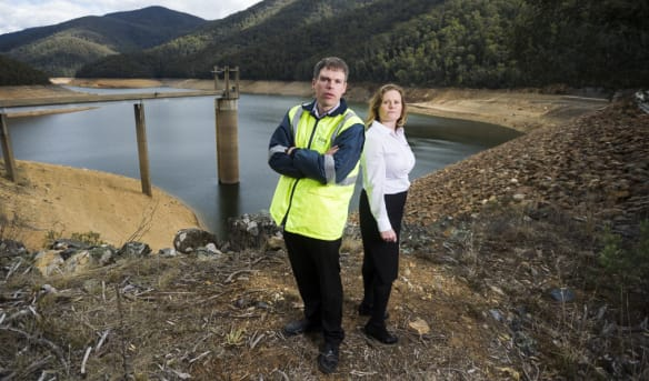 Lack of rain means Corin Dam down to less than a third of its capacity