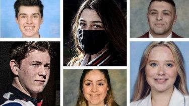 HSC studentsMelika Azimi,Tom Barker,Emma Skehan,Ambrose Konstantinidis,Dori El-Khoury andJessica Grimes