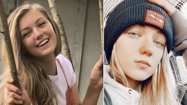 """A combined photo of Gabrielle """"Gabby"""" Petito, 22, who vanished while on a cross-country trip in a converted camper van with her boyfriend."""