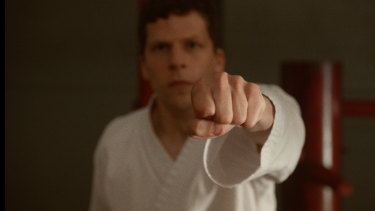 Jesse Eisenberg's character embraces karate in The Art of Self Defense.