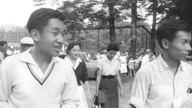 Emperor Akihito, left, last played with Oda, right, two years ago.