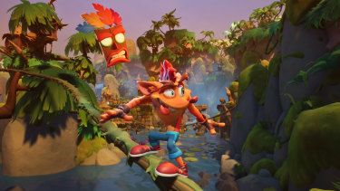 Crash's new design leaves him goofier than ever, with his '90s attitude intact.