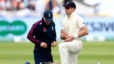 Injury prevented James Anderson from playing any sort of meaningful role in this year's series.