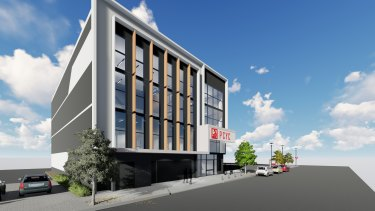 An artist's impression of the new Fortitude Valley PCYC on Wickham Street.