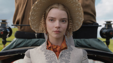 Anya Taylor-Joy as Emma Woodhouse in Autumn de Wilde's film of the Jane Austen classic. Emma sets events in motion through her unthinking arrogance and her propensity to meddle in the lives of those around her.