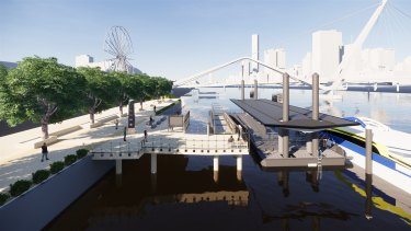 The new South Bank terminal will replace the existing dual-berth pontoon.