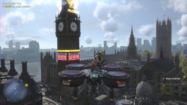 Hijacking a cargo drone and riding it around is a great way to see London, and can also make for a mobile assault platform.