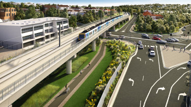 The state government plans to build a skyrail over Toorak Road in Kooyong.