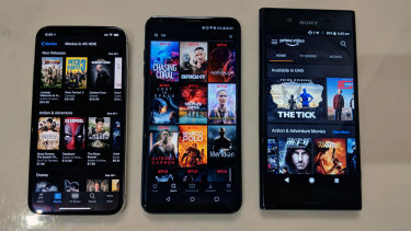 Recommended for HDR streaming: Apple's iPhone X, LG's V30 and Sony's Xperia XZ Premium.