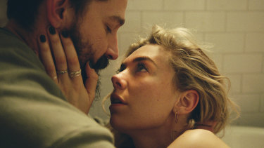 Shia LaBeouf (left) and Vanessa Kirby in a scene from the movie Pieces of a Woman.