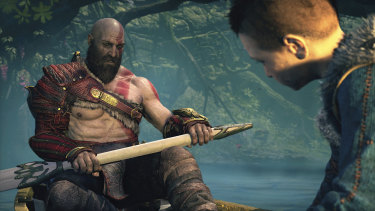 Kratos and Atreus spend a lot of time in the boat.