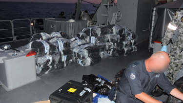 The cocaine bust on board the yacht Elakha.