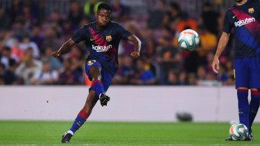 El jugador del Barcelona Ansu Fati podría alinearse contra Australia por España en los Juegos Olímpicos.