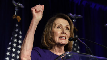 Nancy Pelosi speaks at a House Democratic election night event in Washington.