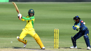 Rachael Haynes smashed 63 off 74 balls against Sri Lanka.