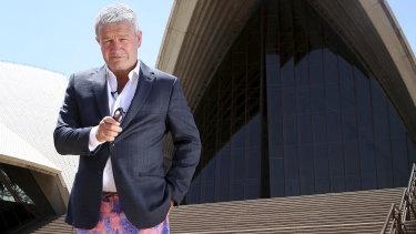 Comedian Lawrence Mooney channeling former Prime Minister Malcom Turnbull