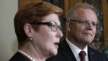 Allan Gyngell says it's important for Foreign Minister Marise Payne (left) and Prime Minister Scott Morrison to clearly outline their strategy for the next few years.