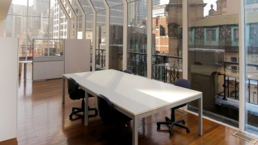 The TAA office in the penthouse at Culwala Chambers on CastlereaghStreet, Sydney.