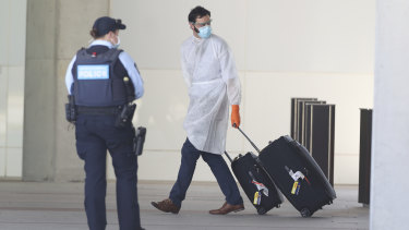 Canberra Airport quarantine. NSW residents will need to quarantine if they enter the ACT until at least after Christmas.
