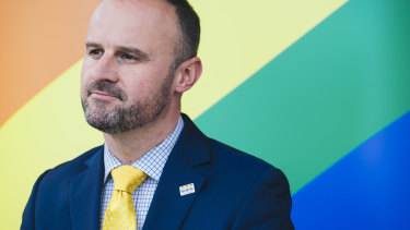 """Andrew Barr says his draft laws will protect gay students and teachers by eliminating a """"legal loophole""""."""