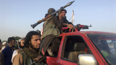 Taliban fighters in Nangarhar province, east of Kabul, in June.