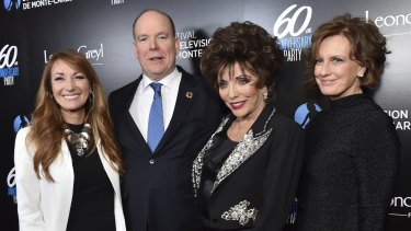 Jane Seymour, Prince Albert II of Monaco, Joan Collins and Anne Sweeney.