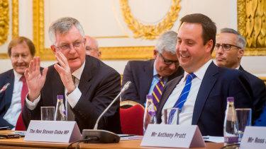 Mr Parkinson andTrade Minister Steve Ciobo at the UK-Australia Leadership Forum