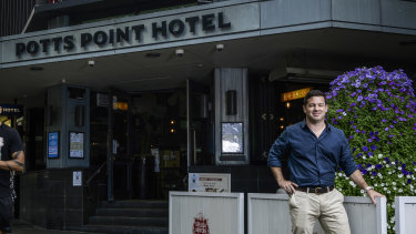 """John Duncan owner of Potts Point Hotel says Kings Cross has been the """"forgotten island"""" of Sydney."""