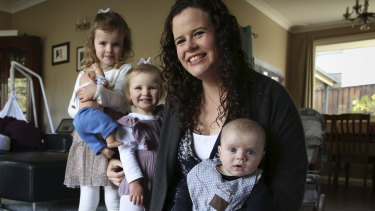 Sydney mother Felicity Frankish, who has just had her third child, says she is now having to choose between working for almost no money or staying home with her children and forgoing the educational benefits of preschool.
