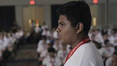 A scene from Boys State.