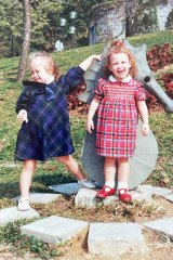 Author Hannah Bent (right) aged 2, with and her sister Camilla (aged 5).