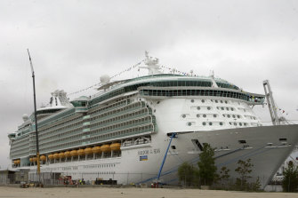 The Freedom of the Seas cruise ship.