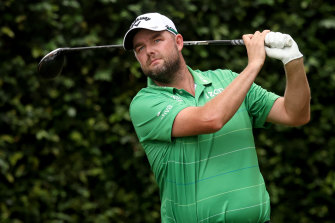 Marc Leishman finished two-under-par in his opening round at the Masters.