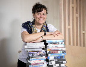 Video artist Jessie Scott is a fan of the video shop – and her DVD player.