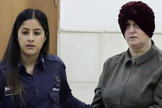 Accused child sex abuser Malka Leifer, right, at a court appearance in February last year.