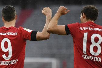Robert Lewandowski and Leon Goretzka were on target for Bayern.