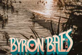 A promotional image for Byron Baes, Netflix's first Australian reality TV series, about the social media influencers of Byron Bay and its surrounds.