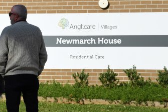 The NSW coronavirus epicentre Newmarch House in western Sydney.