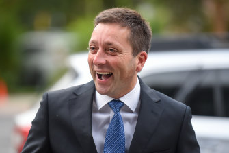 Matthew Guy led the Liberals to a crushing defeat at the last election but he has been tipped for a return to the top job.