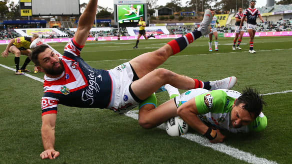 Raiders upset sure-fire Roosters to add twist to premiership puzzle