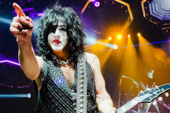 Paul Stanley, on stage with Kiss, the band he co-founded in 1973.