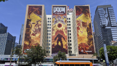 The mural in downtown LA is an E3 tradition. This year it depicts Doom Eternal.