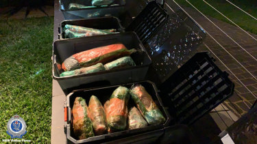 Three people have been charged after more than 100kg of ice was found in the tray of a ute.