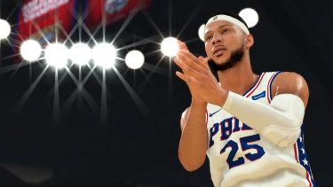 Ben Simmons, as he appears in NBA 2K20.